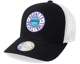 Charlotte Hornets Hwc Patch Black/White 110 Adjustable - Mitchell & Ness
