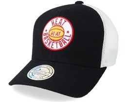 Miami Heat Hwc Patch Black/White 110 Adjustable - Mitchell & Ness