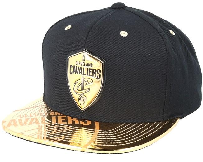 Cleveland Cavaliers Gold Standard Black Snapback - Mitchell   Ness caps -  Hatstoreworld.com f5bb0bb3e7b2