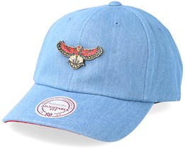 Atlanta Hawks Hwc Pin Strapback Denim Adjustable - Mitchell & Ness
