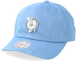 Boston Celtics Hwc Pin Strapback Denim Adjustable - Mitchell & Ness