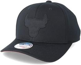 fefc0b001f5 Chicago Bulls Hybrid Jersey Black 110 Adjustable - Mitchell   Ness