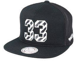 Chicago Bulls N&N Black 110 Trucker - Mitchell & Ness