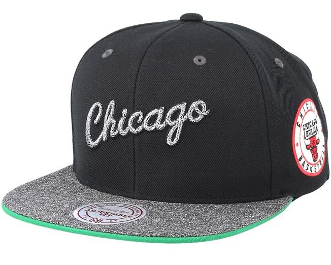 quality design 96b1c da0d4 Chicago Bulls Melange Patch Black Grey Snapback - Mitchell   Ness caps -  Hatstorecanada.com