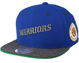 Golden State Warriors Melange Patch Blue/Grey Snapback - Mitchell & Ness