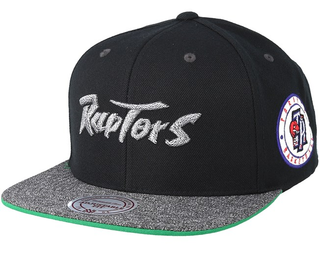 Toronto Raptors Melange Patch Black Grey Snapback - Mitchell   Ness caps -  Hatstoreworld.com de0b36f3bffb