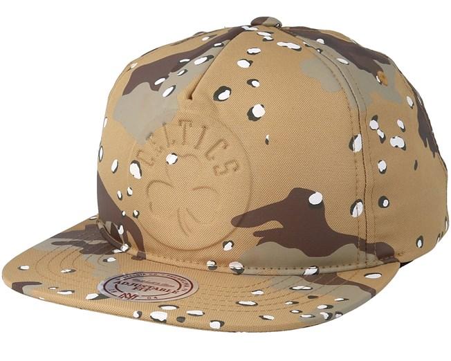 92549f58a53 Boston Celtics Emerge Sand Camo Snapback - Mitchell   Ness caps ...