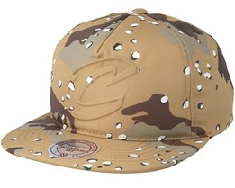 Clevelands Cavaliers Emerge Sand Camo Snapback - Mitchell & Ness