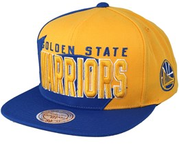 Golden State Warriors Shark Tooth Yellow/Blue Snapback - Mitchell & Ness