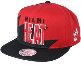 Miami Heat Sharktooth Red/Black Snapback - Mitchell & Ness