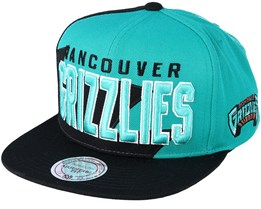 Vancouver Grizzlies Sharktooth Teal/Black Snapback - Mitchell & Ness