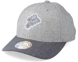 San Antonio Spurs Beam Heather Grey 110 Adjustable - Mitchell & Ness