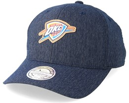 new concept b7811 124c2 Oklahoma City Thunder Kraft Navy 110 Adjustable - Mitchell   Ness