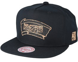 San Antonio Spurs Cork Black Snapback - Mitchell & Ness
