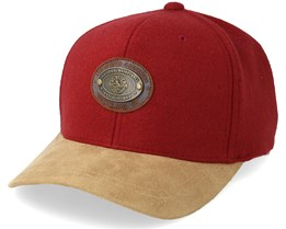 Cleveland Cavaliers Melton Oval 110 Red Adjustable - Mitchell & Ness