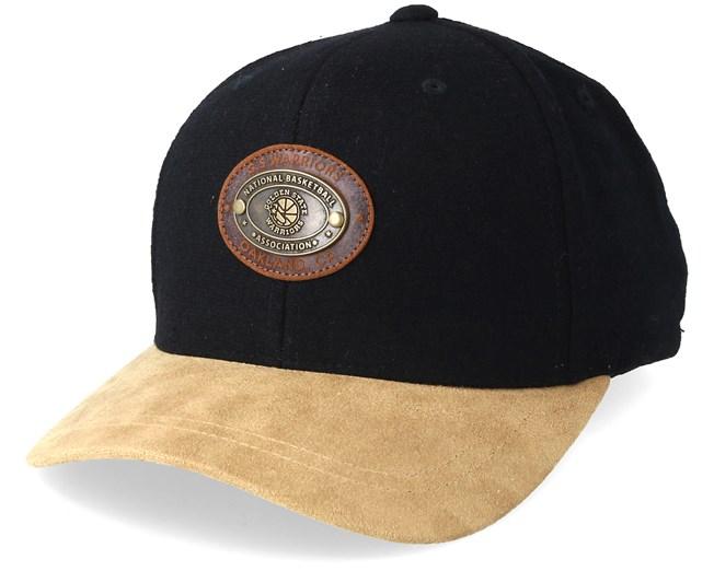 2c96d746bf2 Golden State Warriors Melton Oval 110 Black Adjustable - Mitchell   Ness  caps - Hatstoreaustralia.com