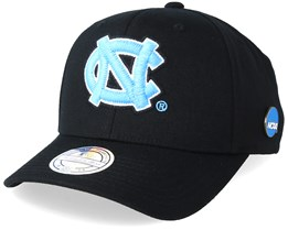 North Caroline Tar Heels Freshman 110 Black Adjustable - Mitchell & Ness