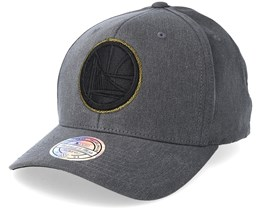 Golden State Warriors Washed Denim Charcoal 110 Adjustable - Mitchell & Ness