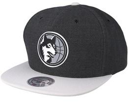Minnesota Timberwolves Reflective Charcoal Snapback - Mitchell & Ness