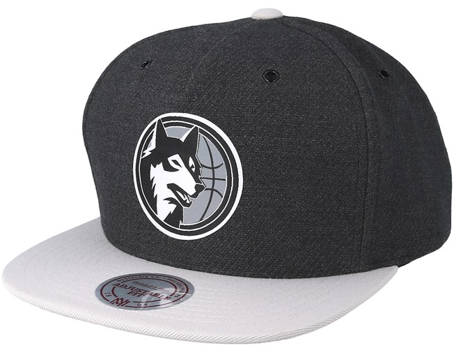 1cefceefc Minnesota Timberwolves Reflective Charcoal Snapback - Mitchell ...