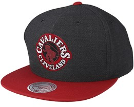 Cleveland Cavaliers Woven Reflective Charcoal Snapback - Mitchell & Ness