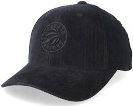 Toronto Raptors Cord Black Adjustable - Mitchell & Ness