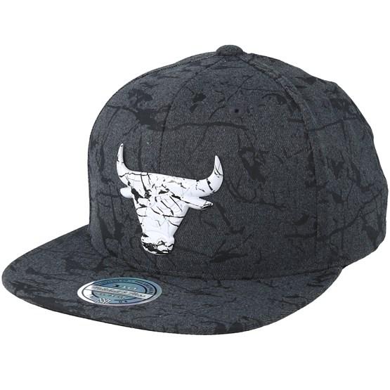 1430658b0c7 Chicago Bulls Marble Charcoal Snapback - Mitchell   Ness caps -  Hatstoreaustralia.com