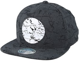 Golden State Warriors Marble Charcoal Snapback - Mitchell & Ness