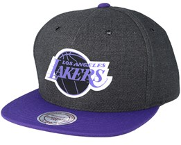 LA Lakers Woven Reflective Charcoal Snapback - Mitchell & Ness