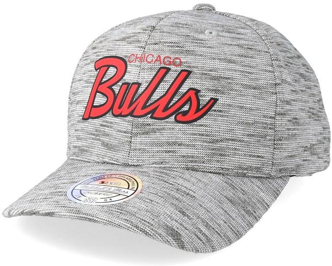 7bd6b3db552 Chicago Bulls Slub Print Grey 110 Adjustable - Mitchell   Ness caps ...