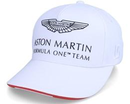 Kids Aston Martin F1 Driver LS Cap White Adjustable - Formula One