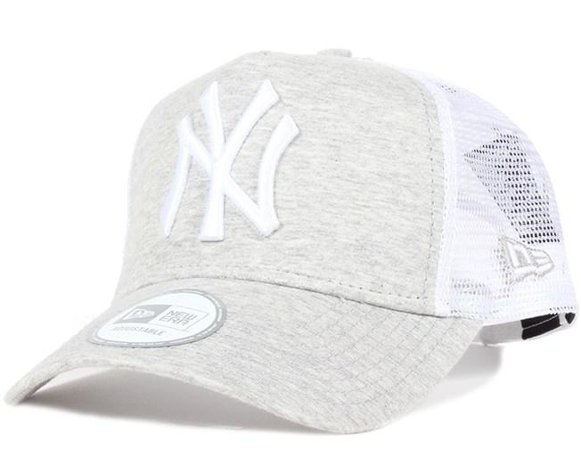NY Yankees MLB Clean Grey White Trucker - New Era lippis - Hatstore.fi f618fa7c64
