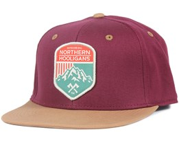Outdoor Div. Maroon/Dark Khaki Snapback - Northern Hooligans