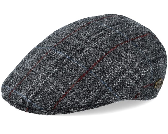 Country Harris Tweed Grey Check Flat Cap - MJM Hats caps - Hatstoreworld.com 69ef4dcc2764