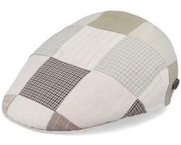 Mjm Country Patchwork Beige Flat Cap - MJM Hats