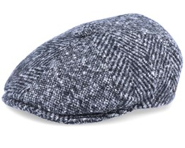 Rebel Wool Patch Grey Flat Cap - MJM Hats