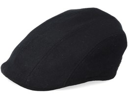 Maddy El Wool Mix Black Flat Cap - MJM Hats