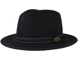 CPH Wool Felt Black Fedora - MJM Hats