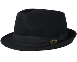 Snap Wool Felt Black Trilby - MJM Hats