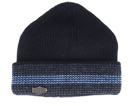 3c Wool Mix Black/Grey/Light Blue Cuff - MJM Hats