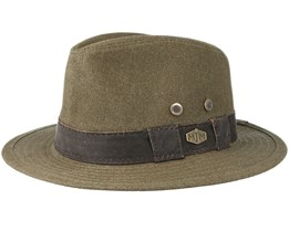Outdoor Washed Canvas Olive Traveller - MJM Hats