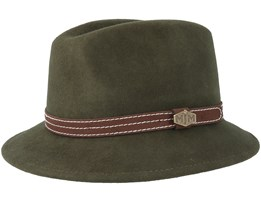 Walker Woolfelt W-P Loden Green Fedora - MJM Hats