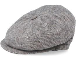 Montreal Linnen Mix Grey Flat Cap - MJM Hats