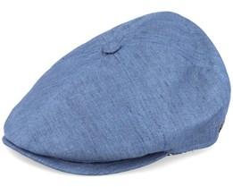 Rebel Linen Blue Flat Cap - MJM Hats