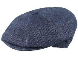 Towny Linen Blue Flat Cap - MJM Hats