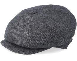 Montreal 100% Eco Merino Wool Anthracite Flat Cap - MJM Hats