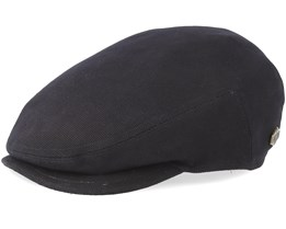 Pedro 100% Cotton Black Flat Cap - MJM Hats