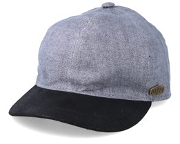 Baseball 100% Linnen Grey/Black Adjustable - MJM Hats