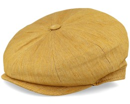 Montreal Linnen Mix Curry Flat Cap - MJM Hats