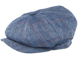 Montreal Silk Blue Flat Cap - MJM Hats